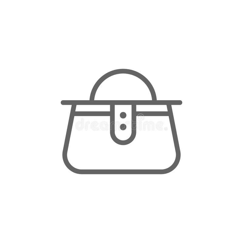Icono del esquema del bolso del d?a de madres r Las muestras y los s?mbolos se pueden utilizar para la web, logotipo, m?vil ilustración del vector