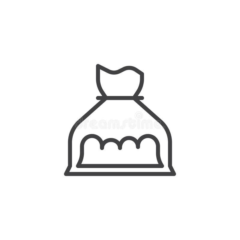 Icono del esquema del bolso de la cocaína libre illustration