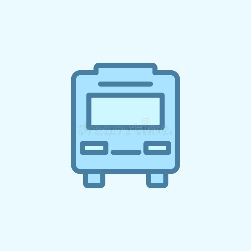 icono del esquema del campo del autobús Elemento del icono simple de 2 colores Línea fina icono para el diseño y el desarrollo, d stock de ilustración