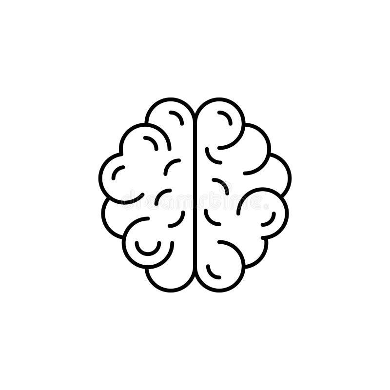 Icono del esquema del cerebro del órgano humano Las muestras y los símbolos se pueden utilizar para la web, logotipo, app móvil,  libre illustration