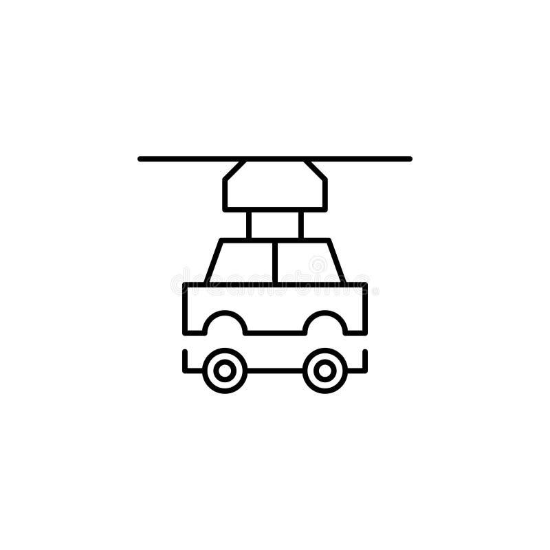 Icono del esquema del coche del robot de la robótica Las muestras y los símbolos se pueden utilizar para la web, logotipo, app mó stock de ilustración