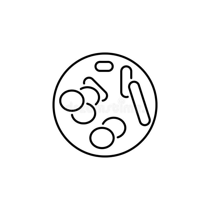 Icono del esquema del cromosoma del órgano humano Las muestras y los símbolos se pueden utilizar para la web, logotipo, app móvil ilustración del vector