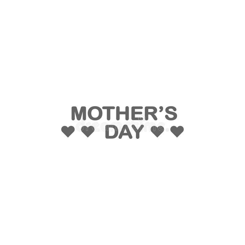 Icono del esquema del d?a de madres del d?a de madres r Las muestras y los s?mbolos se pueden utilizar para la web, logotipo, stock de ilustración