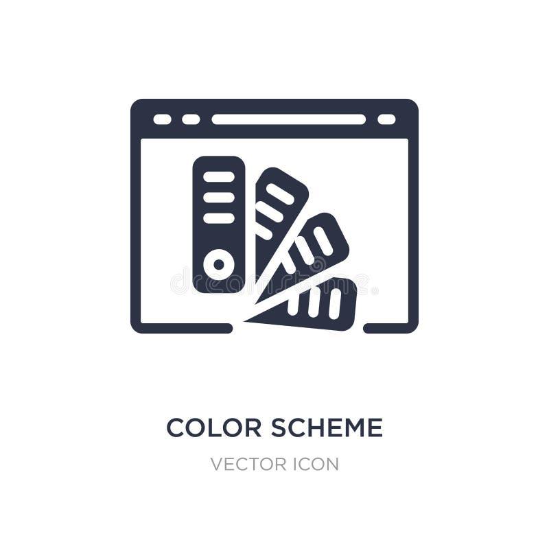 icono del esquema de color en el fondo blanco Ejemplo simple del elemento del concepto del web hosting stock de ilustración