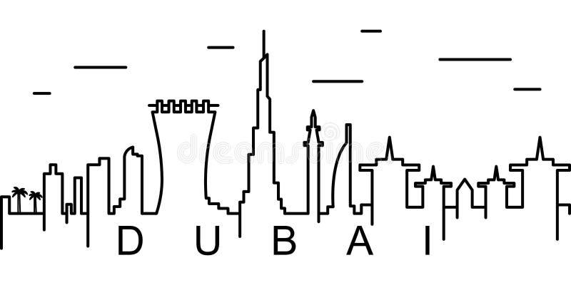 Icono del esquema de Dubai Puede ser utilizado para la web, logotipo, app móvil, UI, UX stock de ilustración