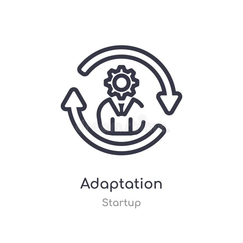 icono del esquema de la adaptación l?nea aislada ejemplo del vector de la colecci?n de lanzamiento icono fino editable de la adap ilustración del vector