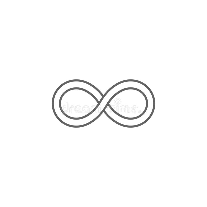 icono del esquema de la amistad del infinito Elementos de la línea icono de la amistad Las muestras, los símbolos y los vectores  ilustración del vector