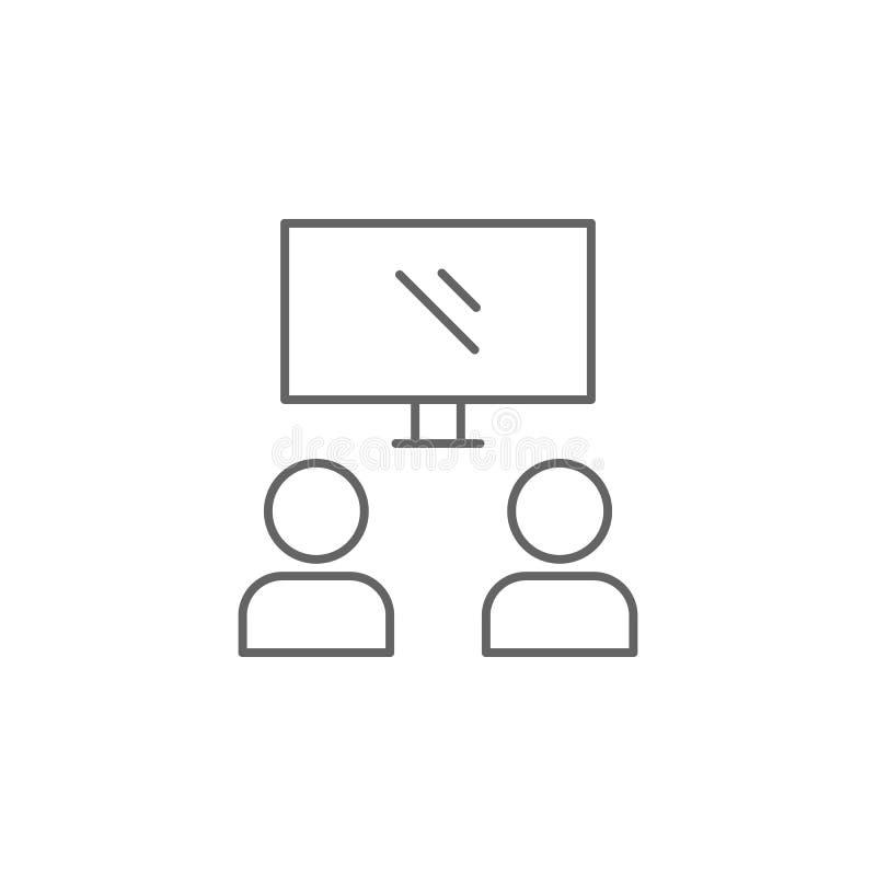icono del esquema de la amistad de la película Elementos de la línea icono de la amistad Las muestras, los símbolos y los vectore stock de ilustración