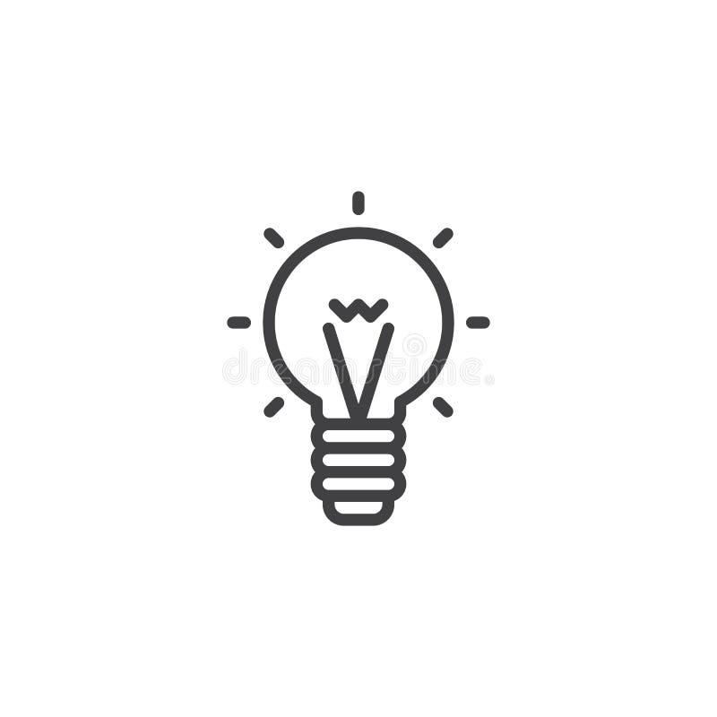 Icono del esquema de la bombilla libre illustration