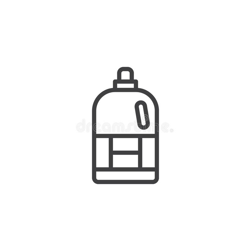 Icono del esquema de la botella del suavizador libre illustration