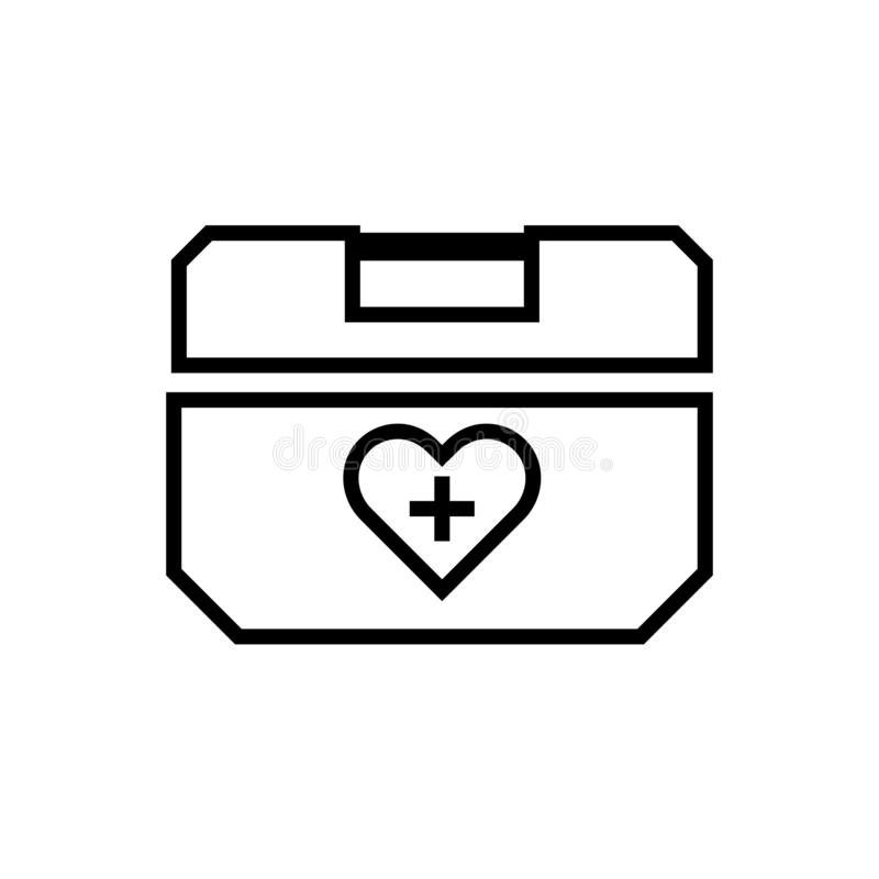 Icono del esquema de la caja del refrigerador del órgano humano ilustración del vector