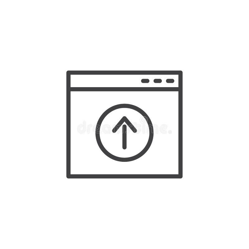Icono del esquema de la carga por teletratamiento de la página de la página web stock de ilustración