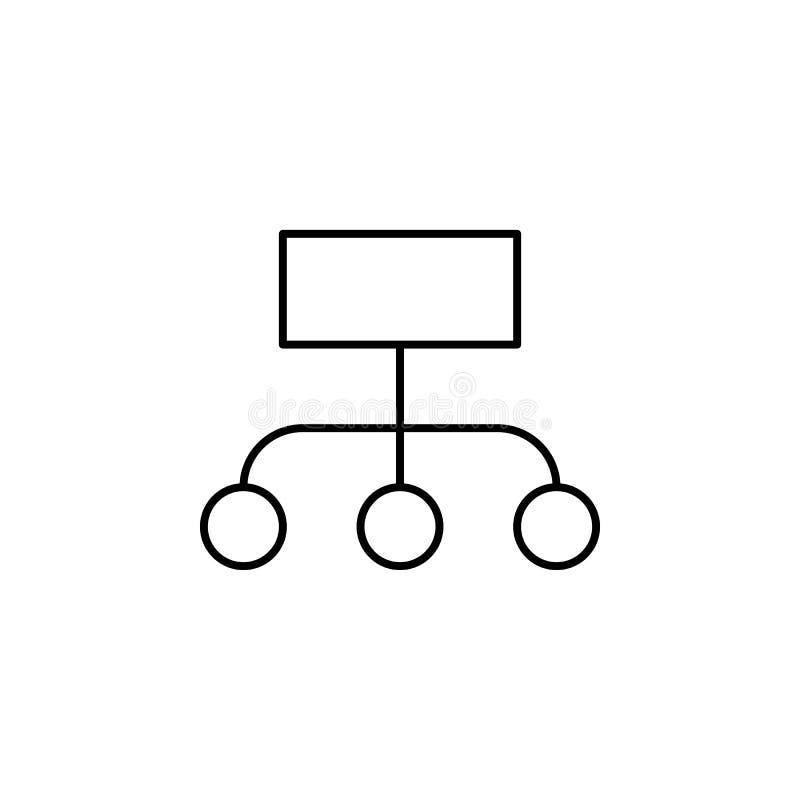 Icono del esquema de la carta de las finanzas del diagrama Elemento del icono del ejemplo de las finanzas las muestras, símbolos  stock de ilustración