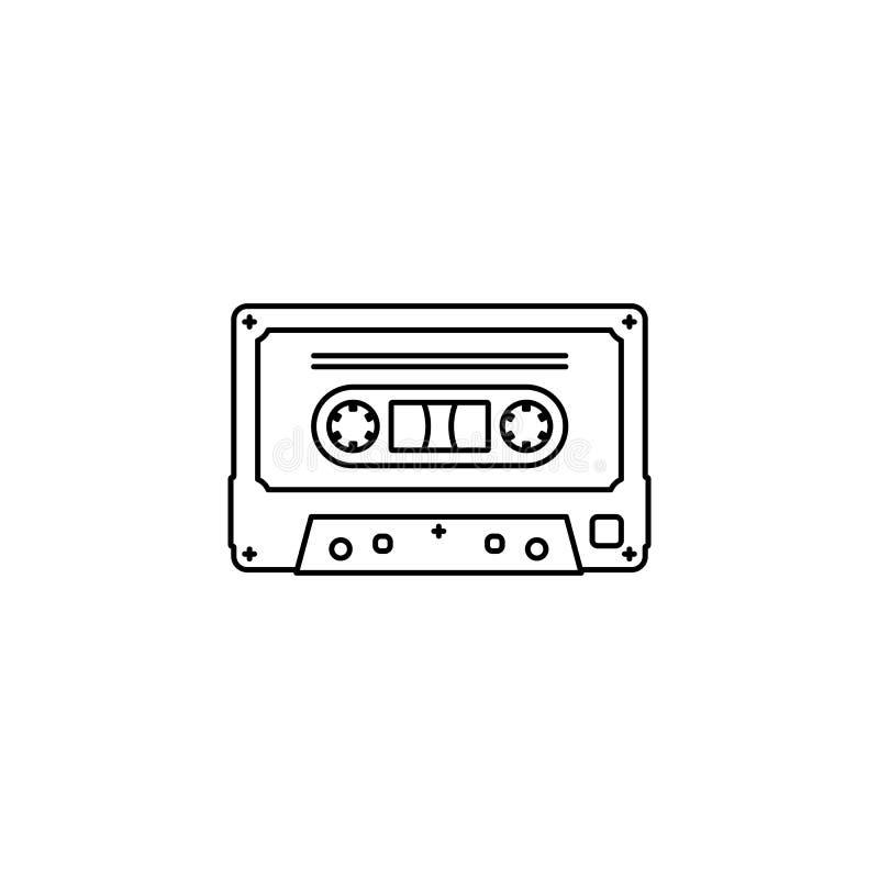 Icono del esquema de la cinta de casete libre illustration