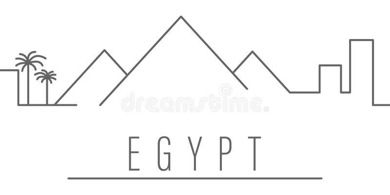 Icono del esquema de la ciudad de Egipto Elementos del icono del ejemplo de las ciudades y de los pa?ses Las muestras y los s?mbo libre illustration