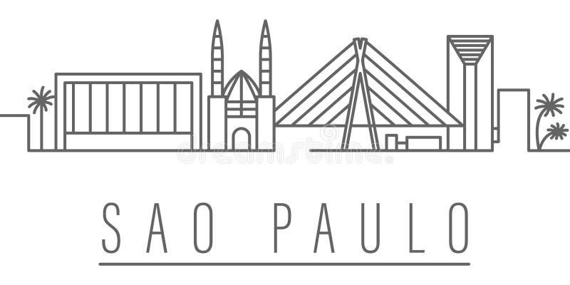 Icono del esquema de la ciudad de Sao Paulo Elementos del icono del ejemplo de las ciudades y de los pa?ses Las muestras y los s? stock de ilustración