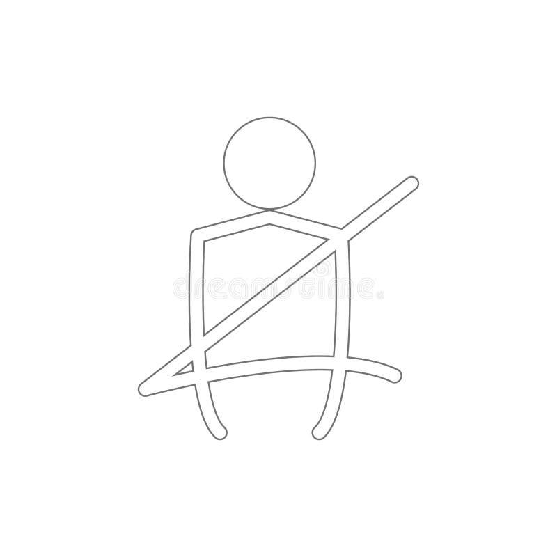 icono del esquema de la correa del asiento de carro Elementos del icono del ejemplo de la reparaci?n del coche Las muestras y los ilustración del vector