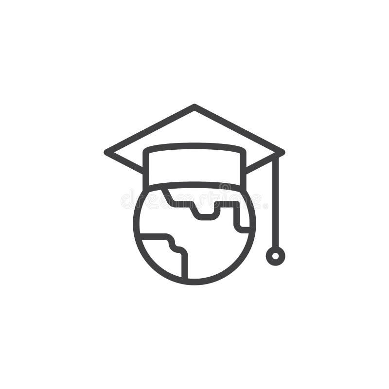 Icono del esquema de la educación del mundo libre illustration