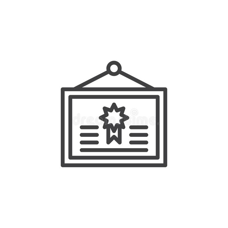 Icono del esquema de la ejecución del diploma libre illustration