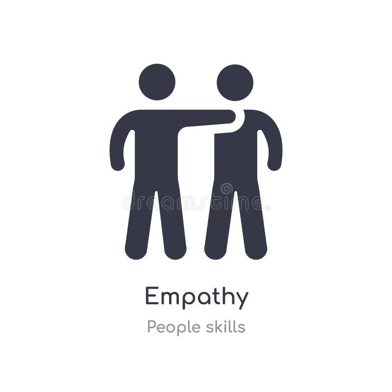 icono del esquema de la empatía l?nea aislada ejemplo del vector de la colecci?n de las habilidades de la gente icono fino editab ilustración del vector