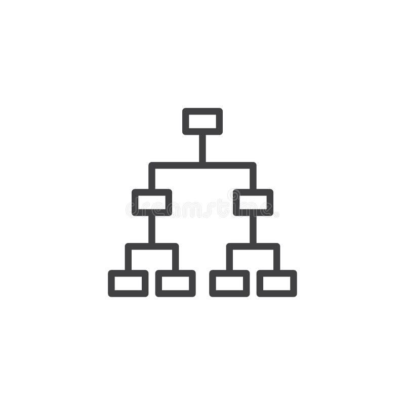 Icono del esquema de la estructura jerárquica stock de ilustración