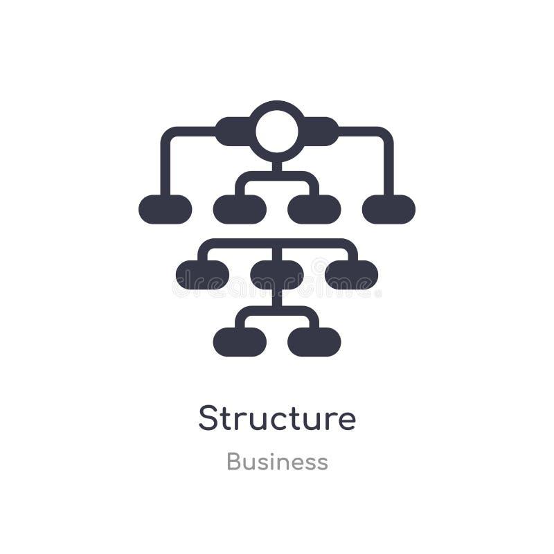 icono del esquema de la estructura l?nea aislada ejemplo del vector de la colecci?n del negocio icono fino editable de la estruct libre illustration
