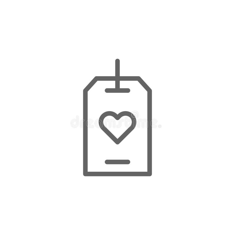 Icono del esquema de la etiqueta del d?a de madres r Las muestras y los s?mbolos se pueden utilizar para la web, logotipo, app m? stock de ilustración