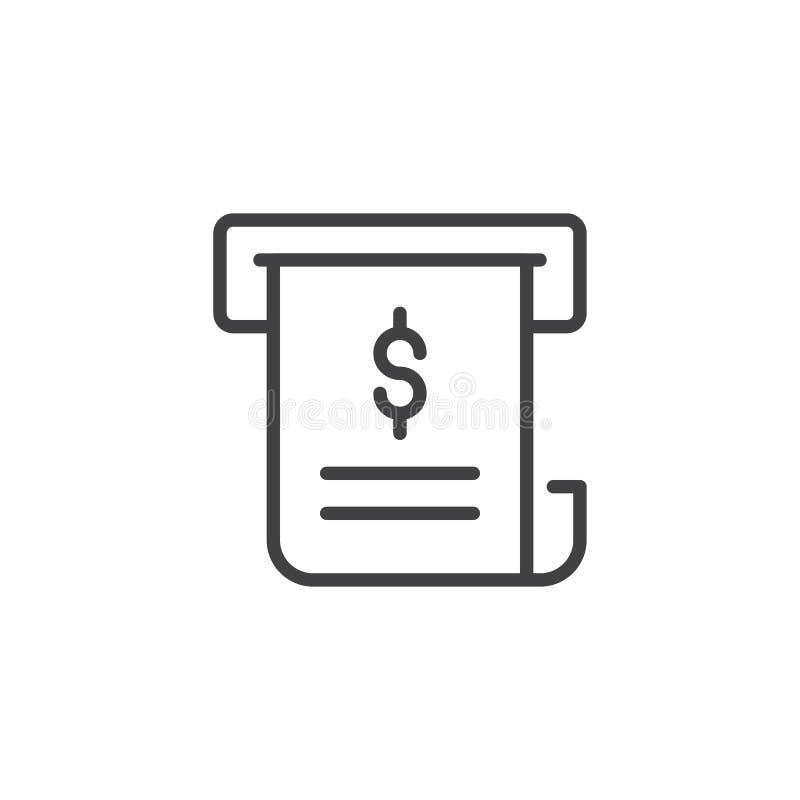 Icono del esquema de la factura libre illustration