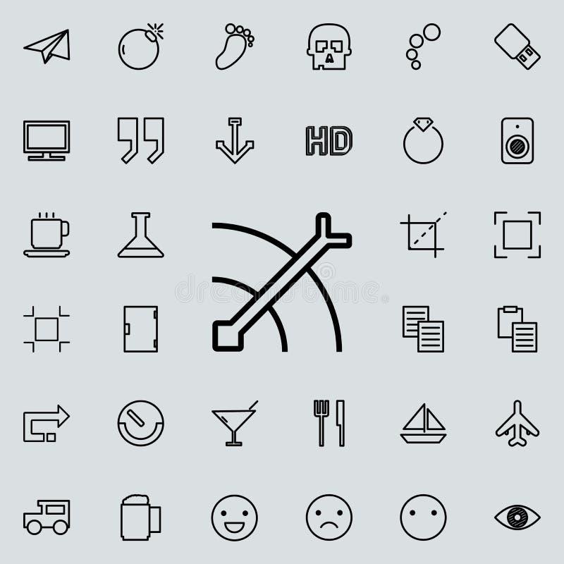icono del esquema de la flecha y de la blanco Sistema detallado de la línea minimalistic iconos Diseño gráfico superior Uno de lo libre illustration