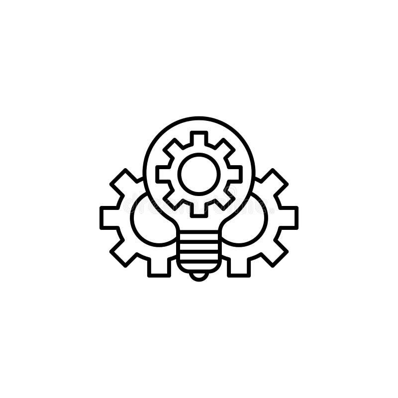 Icono del esquema de la innovación de la robótica Las muestras y los símbolos se pueden utilizar para la web, logotipo, app móvil stock de ilustración