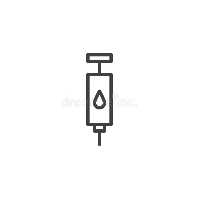 Icono del esquema de la inyección de la sangre libre illustration