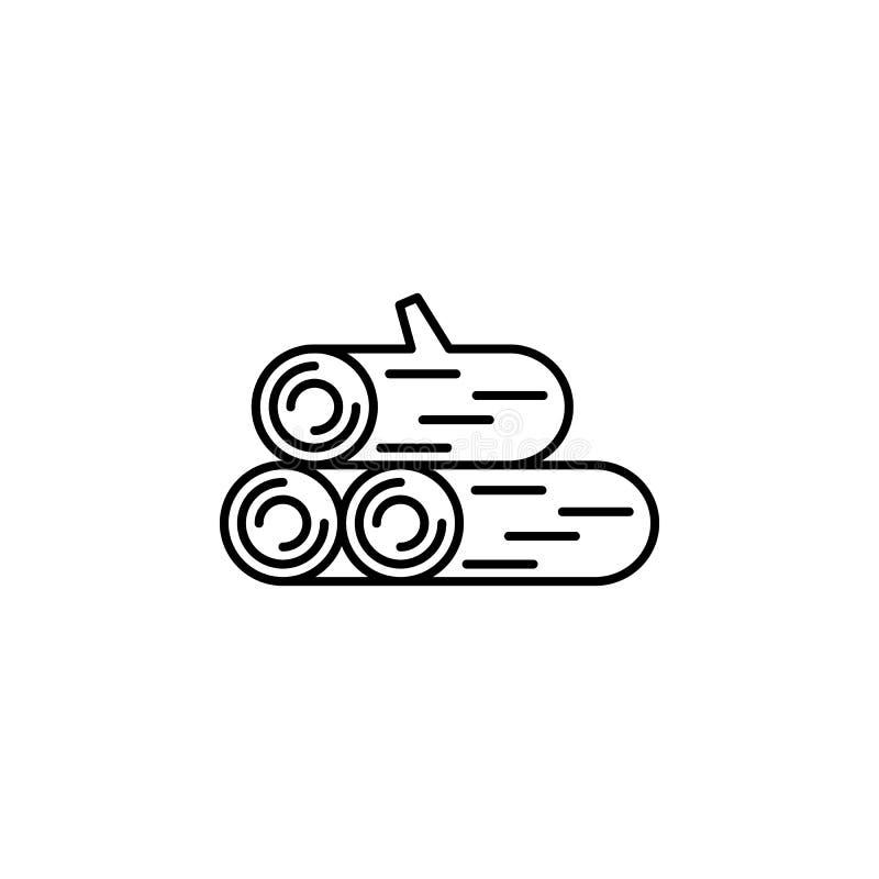 icono del esquema de la leña Elemento del icono del campamento de verano Dise?o gr?fico de la calidad superior Muestras e icono d fotos de archivo