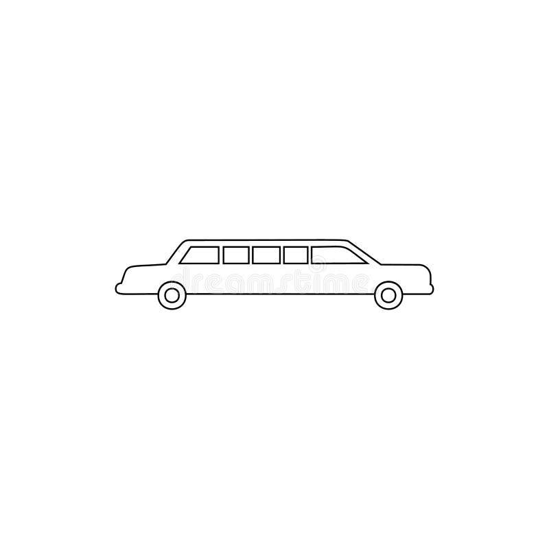 icono del esquema de la limusina del coche Elemento del tipo icono del coche Icono superior del dise?o gr?fico de la calidad Mues libre illustration