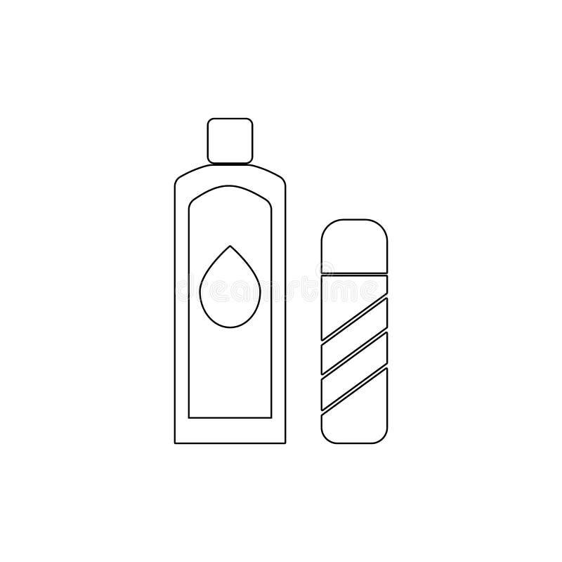 icono del esquema de la loción Icono del cuarto de ba?o y del elemento de la sauna Dise?o gr?fico de la calidad superior Muestras stock de ilustración