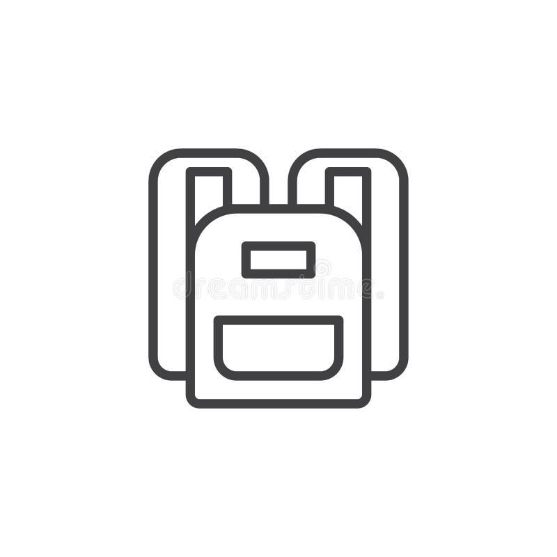 Icono del esquema de la mochila libre illustration