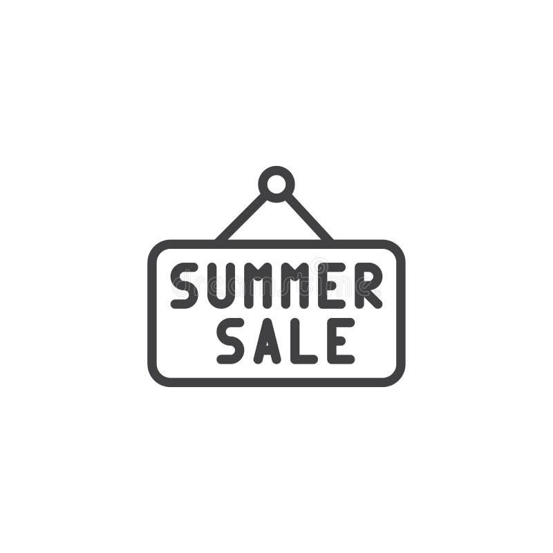 Icono del esquema de la muestra de la venta del verano ilustración del vector