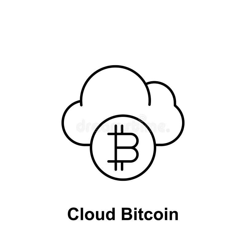 Icono del esquema de la nube de Bitcoin Elemento de los iconos del ejemplo del bitcoin Las muestras y los símbolos se pueden util libre illustration