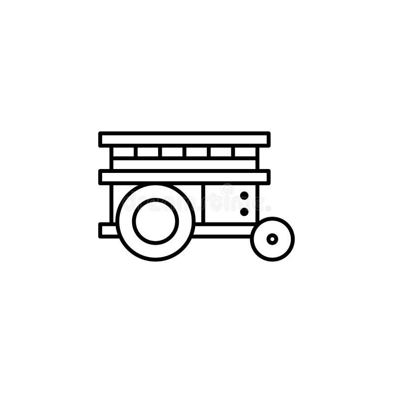 Icono del esquema de la plataforma de la robótica Las muestras y los símbolos se pueden utilizar para la web, logotipo, app móvil ilustración del vector