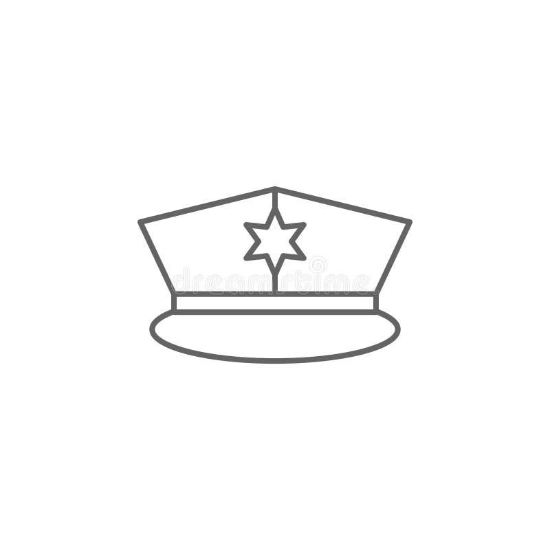 Icono del esquema de la policía de la justicia Elementos de la línea icono del ejemplo de la ley Las muestras, los símbolos y s s stock de ilustración