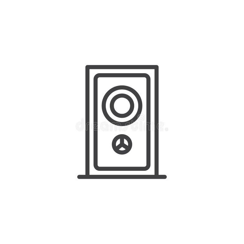 Icono del esquema de la puerta del iluminador de la porta ilustración del vector