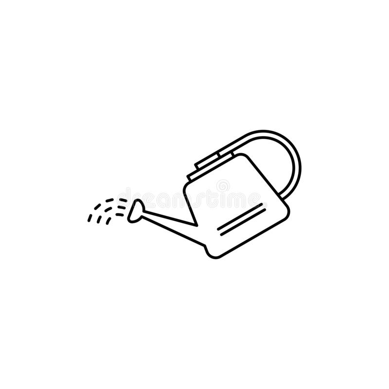 Icono del esquema de la regadera ilustración del vector