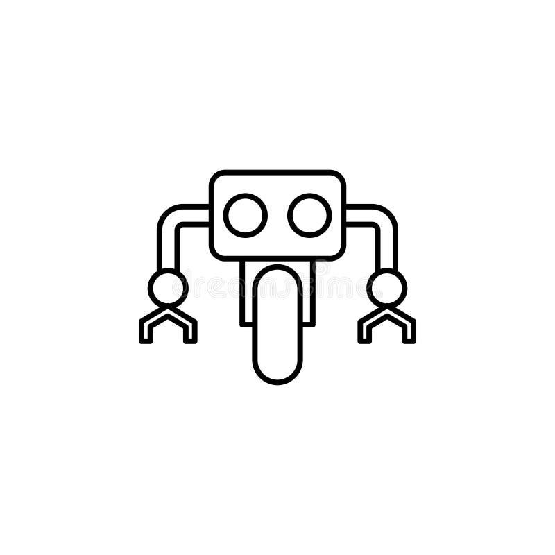 Icono del esquema de la rueda de la robótica Las muestras y los símbolos se pueden utilizar para la web, logotipo, app móvil, UI, libre illustration
