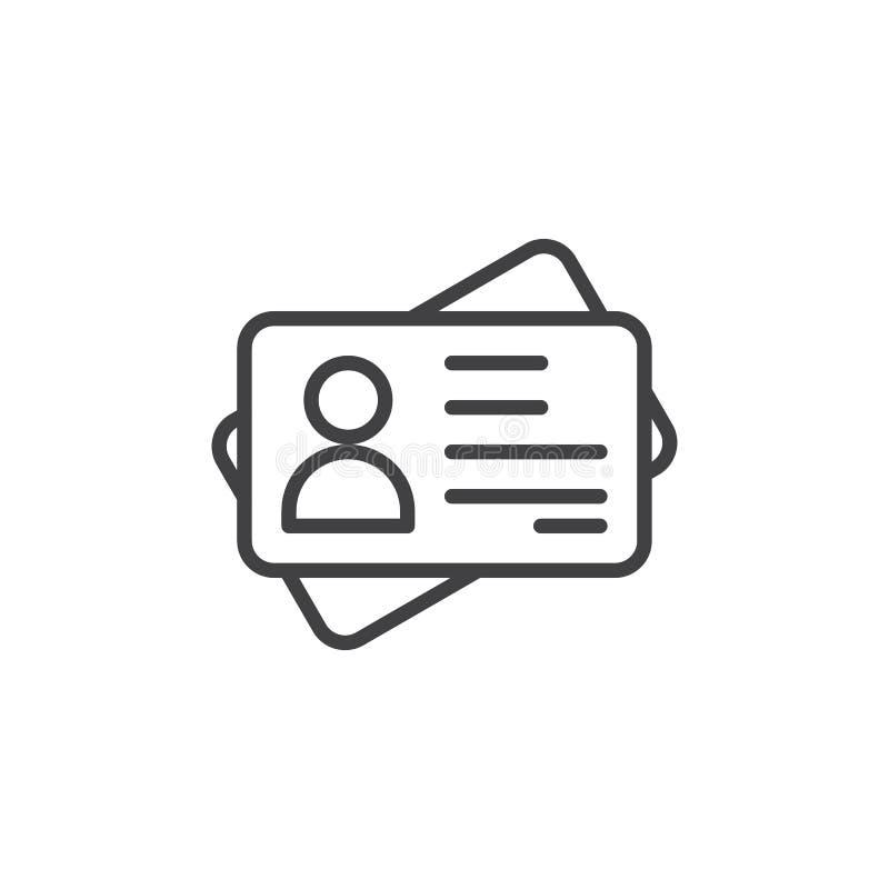 Icono del esquema de la tarjeta de la identificación libre illustration