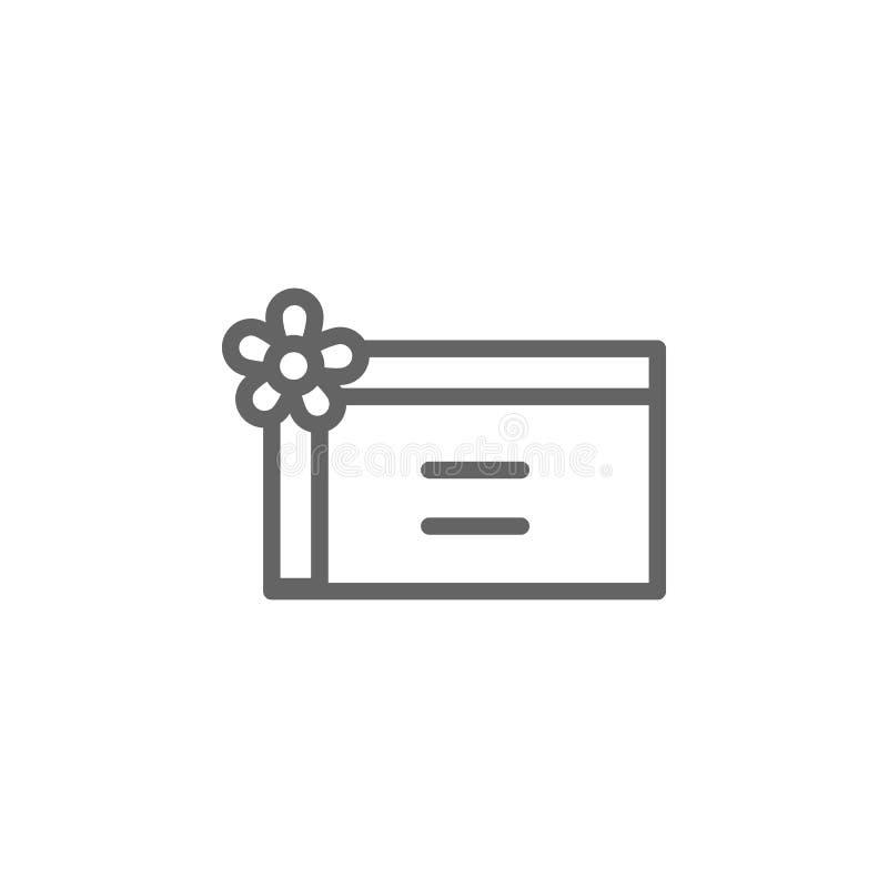 Icono del esquema de la tarjeta de regalo del d?a de madres r Las muestras y los s?mbolos se pueden utilizar para la web, logotip ilustración del vector