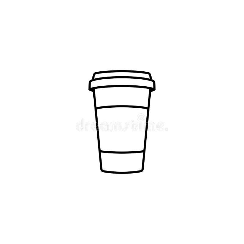Icono del esquema de la taza de caf? libre illustration