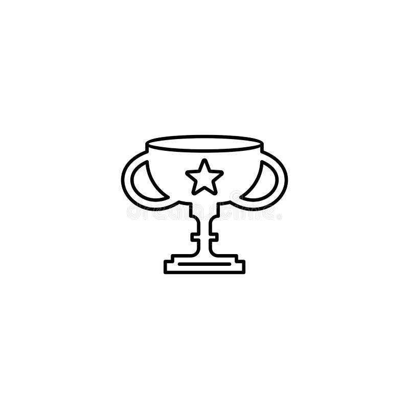 Icono del esquema de la taza del trofeo stock de ilustración