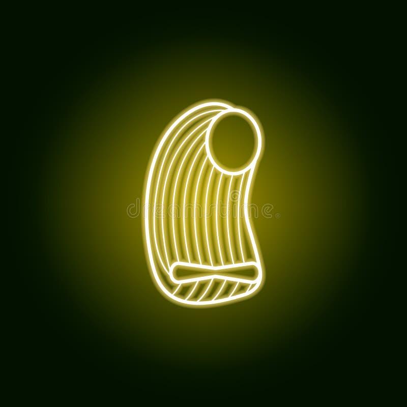 icono del esquema de las pastas en el estilo de neón Elementos de la línea icono de los espaguetis Las muestras, símbolos se pued libre illustration