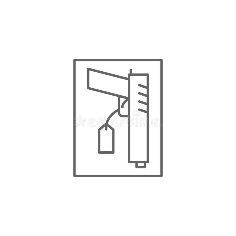 Icono del esquema de las pruebas de la justicia Elementos de la línea icono del ejemplo de la ley Las muestras, los símbolos y lo stock de ilustración