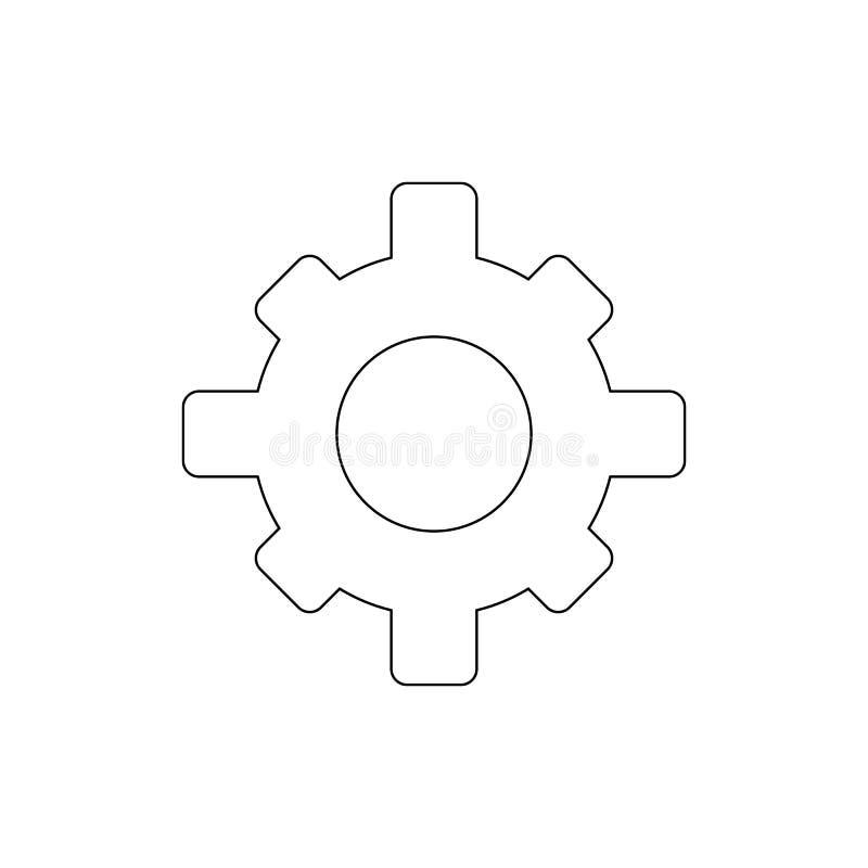 Icono del esquema de los ajustes del diente Las muestras y los s?mbolos se pueden utilizar para la web, logotipo, app m?vil, UI,  stock de ilustración
