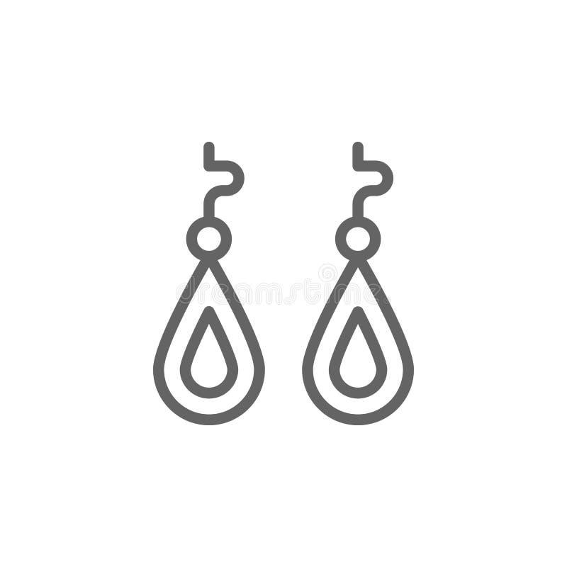 Icono del esquema de los pendientes del d?a de madres r Las muestras y los s?mbolos se pueden utilizar para la web, logotipo, m?v libre illustration
